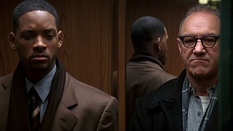 Will Smith en Gene Hackman in 'Enemy of the State'. Beeld