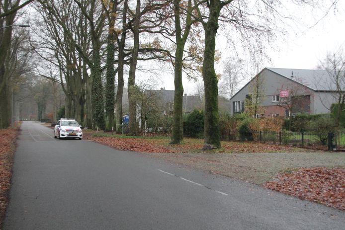 Politie bij de plek in Vorden waar het incident vanochtend plaatsvond.