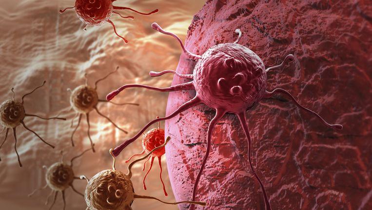 Een 3D-animatie van een kankercel.