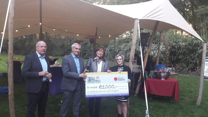 Cliniclowns ontving 1000 euro.