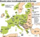 Mondkapjesplicht in Europa.