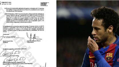 """""""Geheim contract dat nu gelekt is toont aan dat met transfer van Neymar naar Barça meer dan 100 miljoen euro gemoeid is"""""""