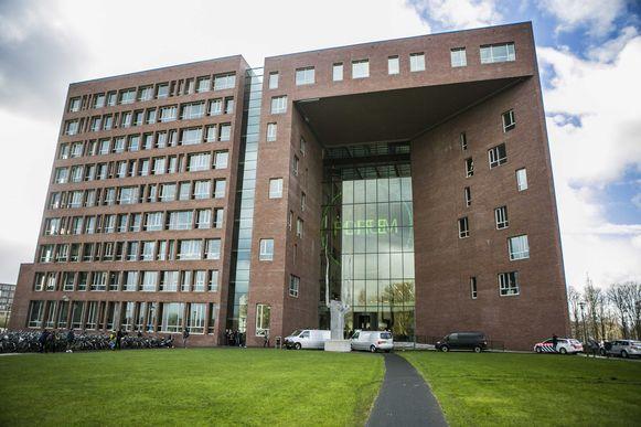 Het hoofdgebouw van de grotendeels Engelstalige Wageningen University (provincie Gelderland).