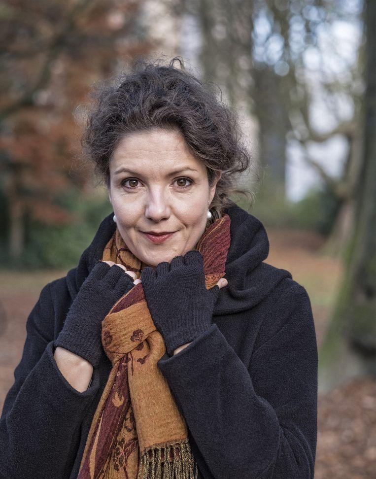 Tinneke Beeckman, een van de twee genomineerde vrouwen voor de Socrates Wisselbeker. Beeld Patrick Post