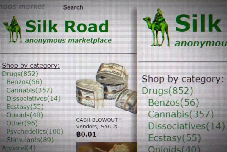 Op Silk Road is het mogelijk om drugs per categorie te bestellen. Beeld Getty / Tomer Hanuka / Julia Vie