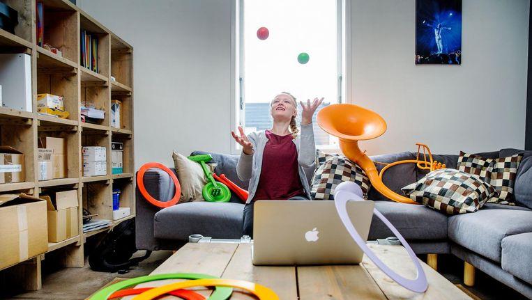 De online lessen moeten kinderen onder andere stimuleren om meer te bewegen Beeld Jean-Pierre Jans