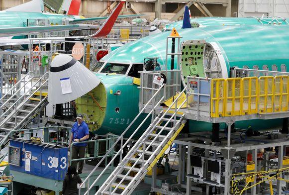 Een Boeing 737 MAX 8-vliegtuig.