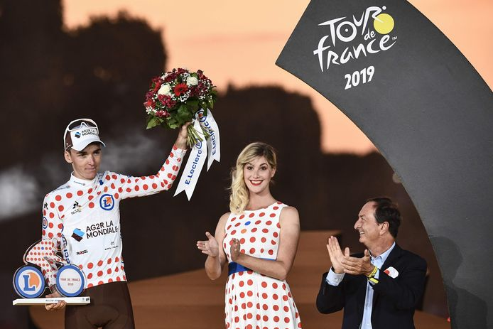 Bardet won de bolletjestrui in de Tour.
