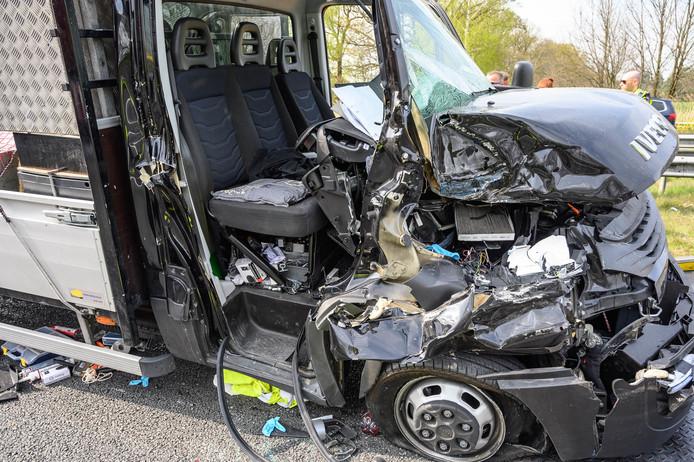 Ongeluk op A58 bij Breda