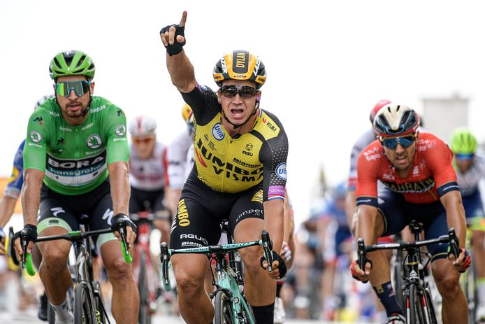Dylan Groenewegen is de renner met de meeste overwinningen dit jaar.