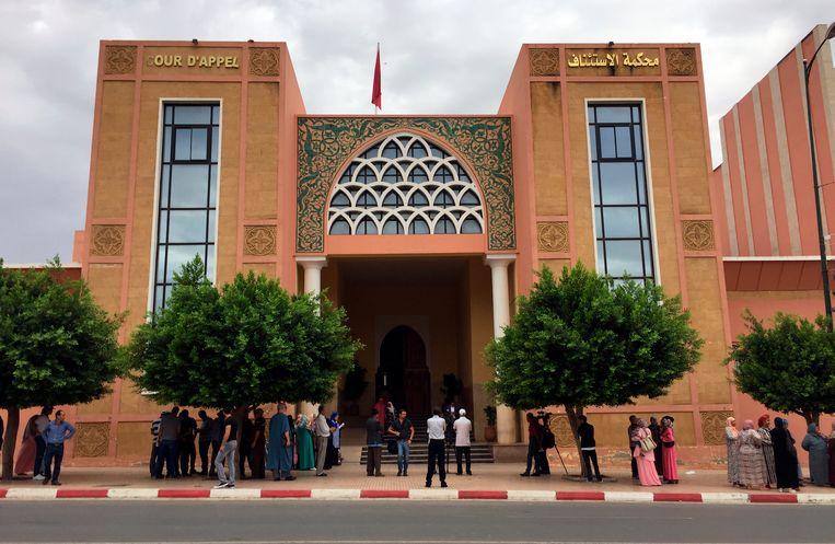 Het gerechtshof in Béni-Mellal waar de zaak dient.