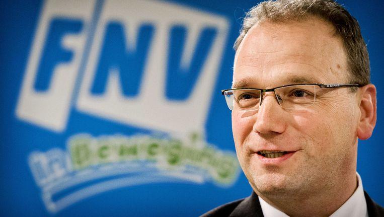 Ton Heerts, kandidaat voor het voorzitterschap van vakcentrale FNV, nu interim-voorzitter. Beeld ANP