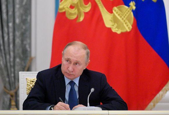 Putin deed de uitspraak tijdens een bijeenkomst over de toekomst van de Russische taal.