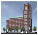 Impressie van het nieuw te bouwen hotel Tribute by Marriott in het Paleiskwartier