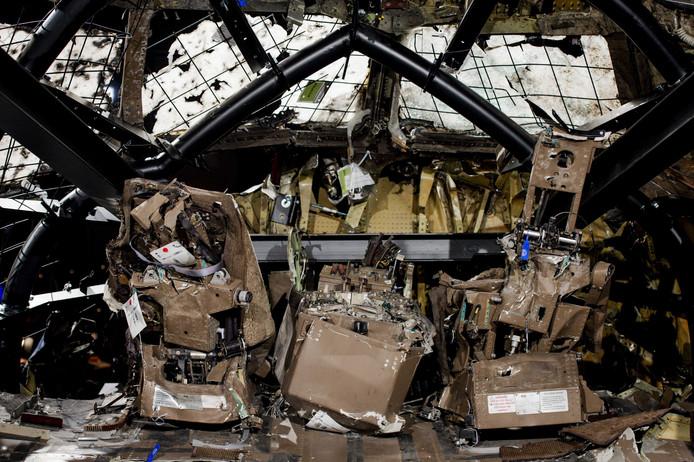 De cockpit van het toestel van de MH17 vlucht.