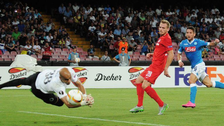 In september 2015 kreeg Bolat als doelman van Club Brugge vijf goals om de oren in Napoli.