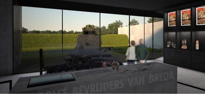Impressie van het Generaal Maczek Memorial aan de Ettensebaan in Breda.