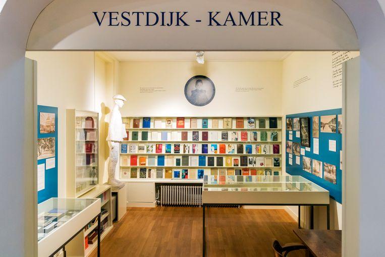 Vestdijk-kamer in het Hannemahuis, het gemeentemuseum van Harlingen. Beeld Sander Groen