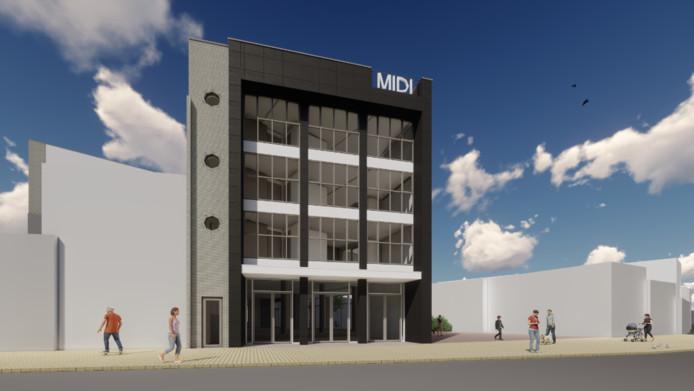 De voorgevel van het nieuwe Midi-complex lijkt sterk op die van het oorspronkelijke.