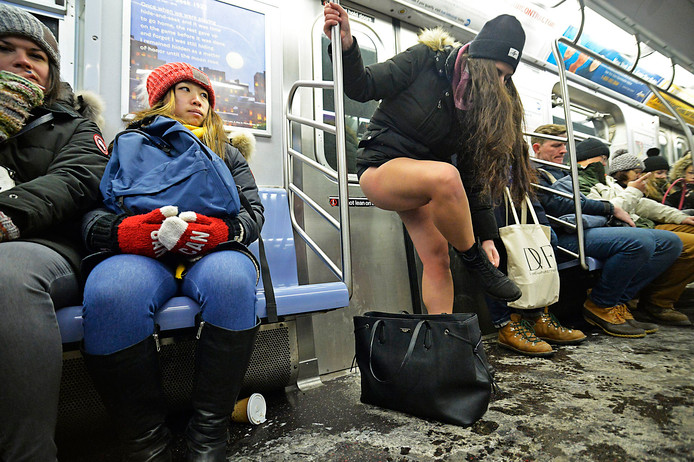 De No Pants Subway Ride begon 16 jaar geleden als grap.