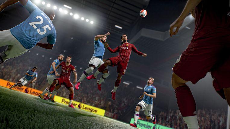 Beeld uit FIFA 21, de voetbalsim van EA. Beeld EA