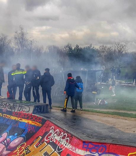 Politie stuurt jongeren na overlast met vuurwerk weg uit Griftpark