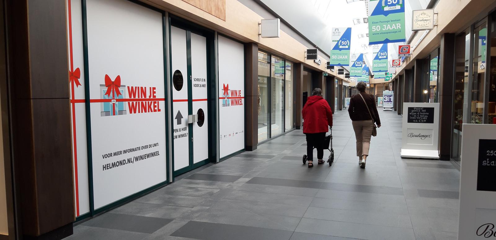 In de Elzas Passage is een gratis winkelruimte beschikbaar voor een ondernemer met een goed idee.