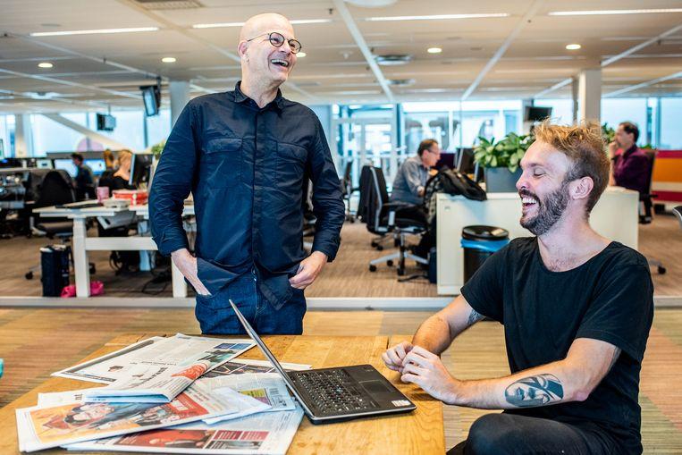 Chef nieuws Eelco Meuleman (links) en sitecoördinator Yves Leroi Beeld Simon Lenskens