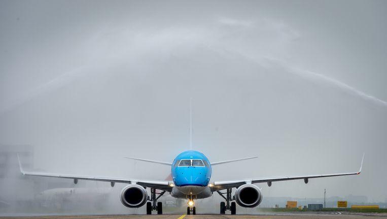 De Embraer 190 van KLM Cityhopper. Beeld anp