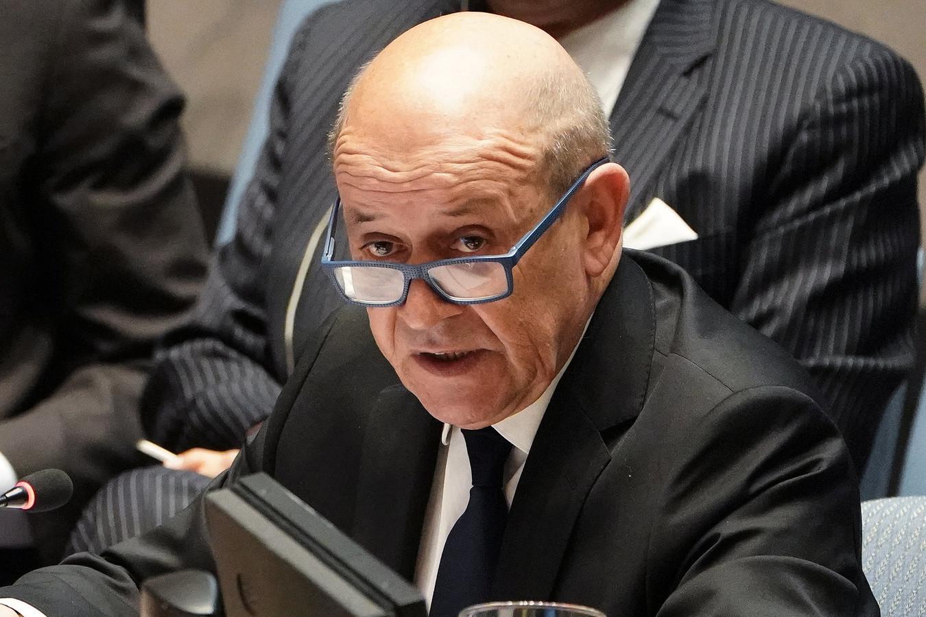De echte Franse minister van Buitenlandse Zaken, Jean-Yves Le Drian.