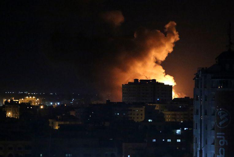 Rook na een Israëlische luchtaanval op Gaza (archiefbeeld).