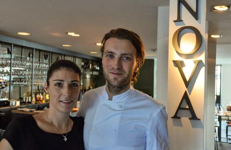 Guy De Jonghe en Tineke Maerevoet van restaurant Nova op de Grote Markt, dat in de nieuwe Gault&Millau stijgt naar 13 op 20.