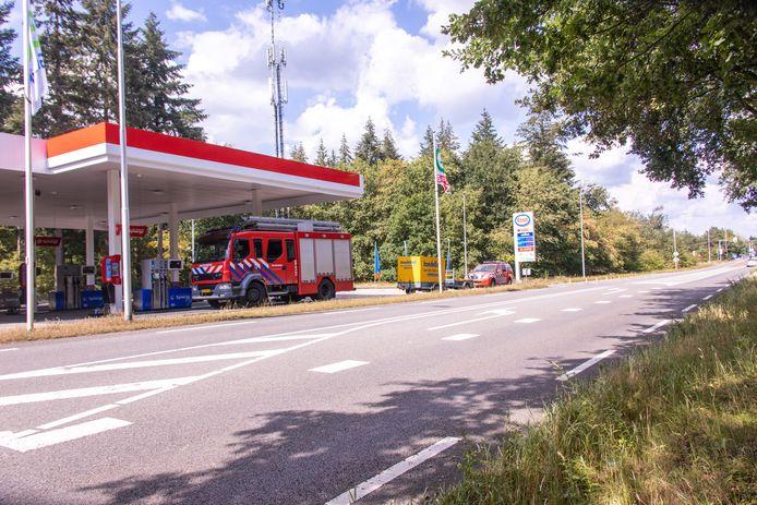 Het Texaco-station in Leusden/
