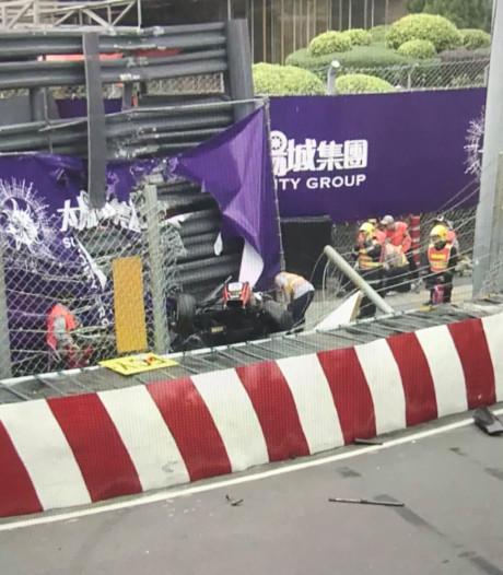 Horrorcrash in GP van Macau: coureur vliegt door de hekken