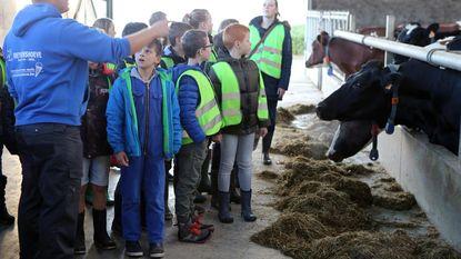 Basisschool Klim-Op bezoekt boerderij