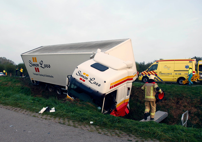 Ongeval op de Langeweg oktober vorig jaar, overigens op een deel waar al een inhaalverbod geldt.
