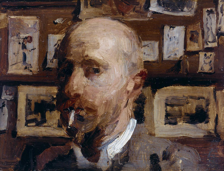 Ongedateerd zelfportret van Isaac Israels. Beeld Privecollectie