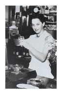Jeanne in café Mentor in Teteringen