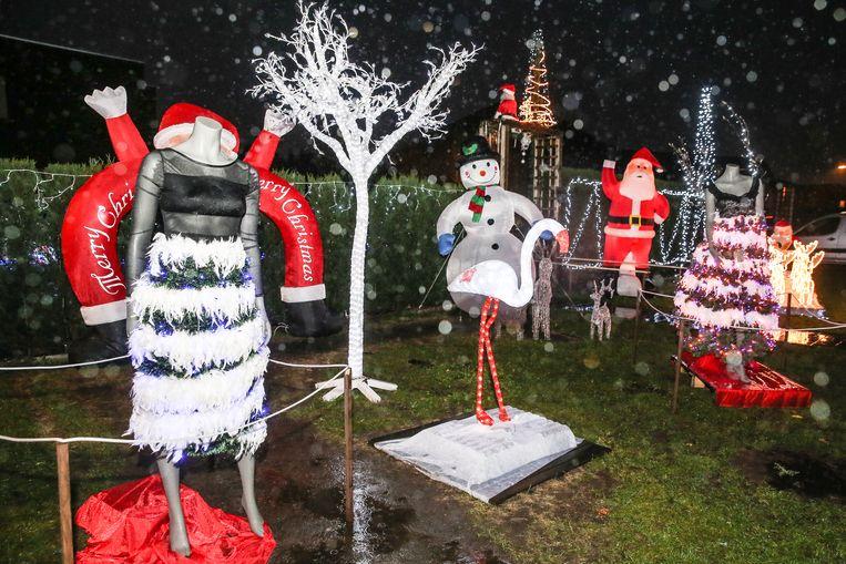 Kerstsfeerhuisje in Oostakker.