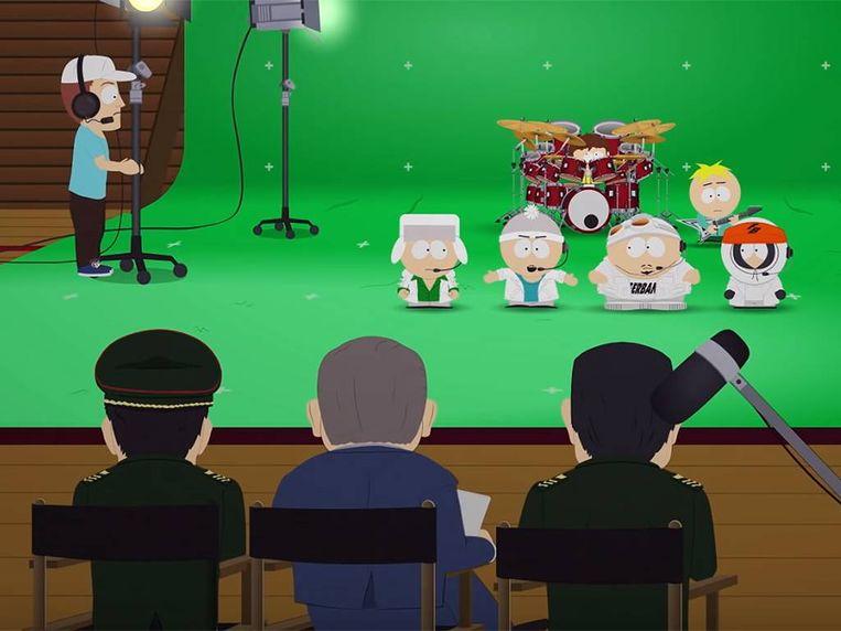 De bewuste aflevering 'Band in China'. Beeld