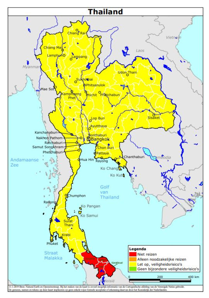 Smog Thailand aangepast reisadvies