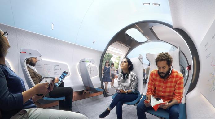 Impressie van de TU-hyperloop.
