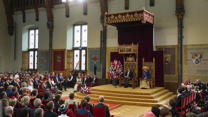 Koning Willem-Alexander leest de Troonrede voor op Prinsjesdag.