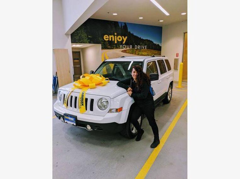 De Jeep van Hernandez toen ze hem net in ontvangst had genomen.