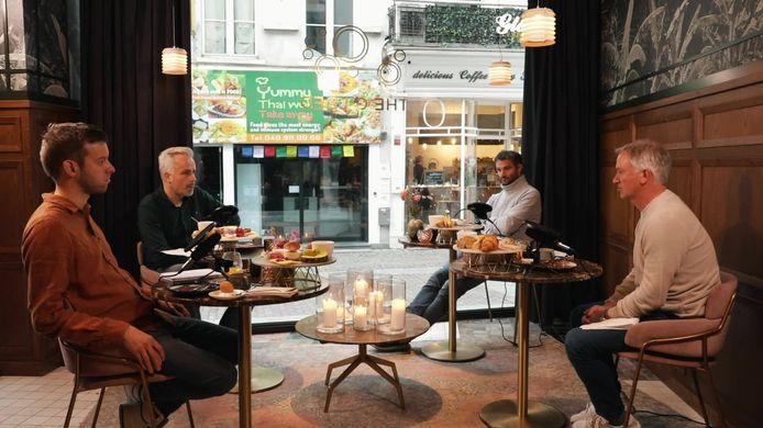 Marc Degryse met Jarno Bertho, Maarten Breckx en Stephan Keygnaert in 'Top of the League'.