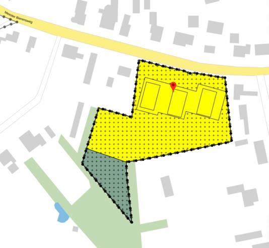 Het plan bij de Meester Bierensweg in Prinsenbeek.