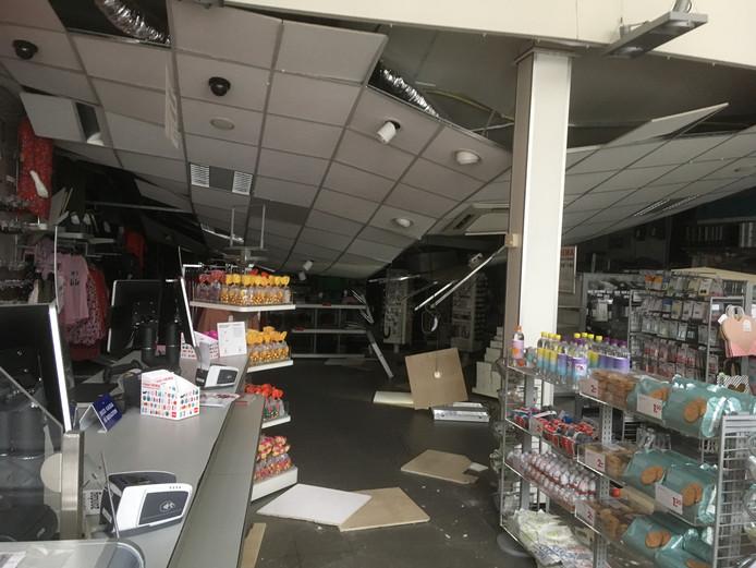 In de winkel is de schade groot.