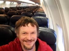 Il voyage seul dans un avion de 188 places