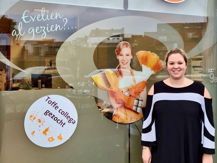 Laura Peeters is de verantwoordelijke van het nieuwe kantoor van Plus Home Services.