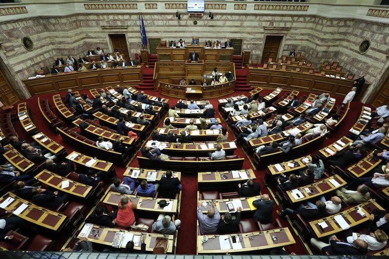Het Griekse parlement. Beeld ap